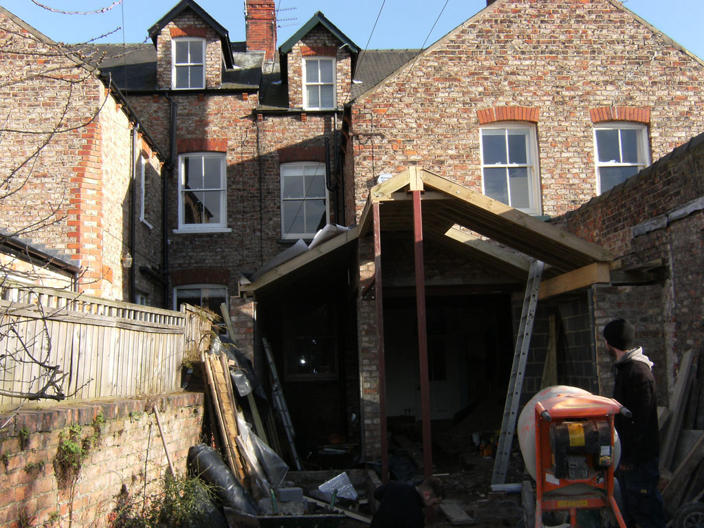 victorian terraced house kitchen extension artisan project management  artisan project